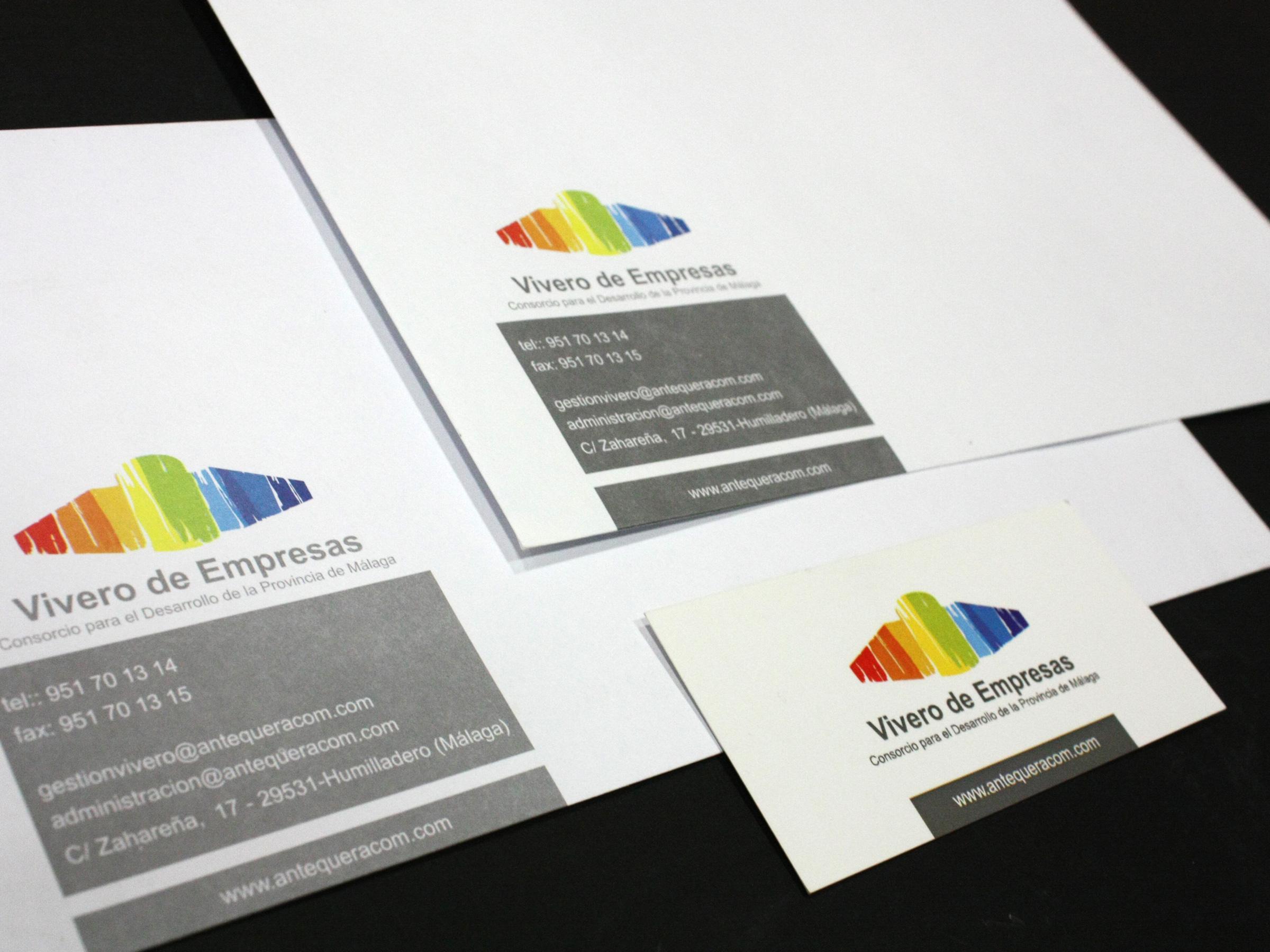 Diseño Imagen Corporativa Vivero de Empresas FANS MARKETING MÁLAGA