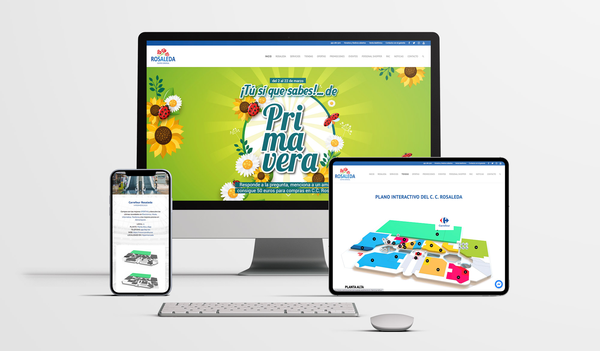 Web Centro Comercial Rosaleda - FANS Marketing MÁLAGA