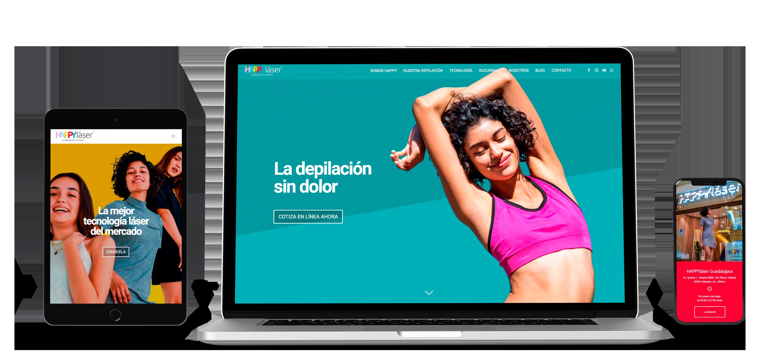 Web Happy lásser México Fans Marketing MÁLAGA