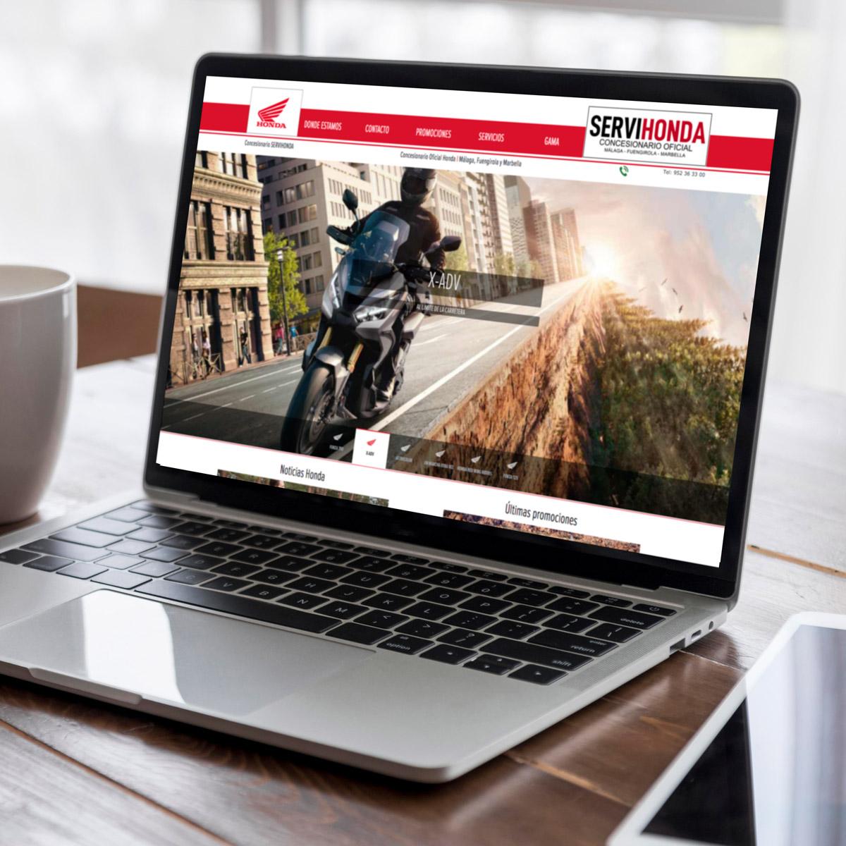 Web Servihonda Málaga Fans Marketing MÁLAGA