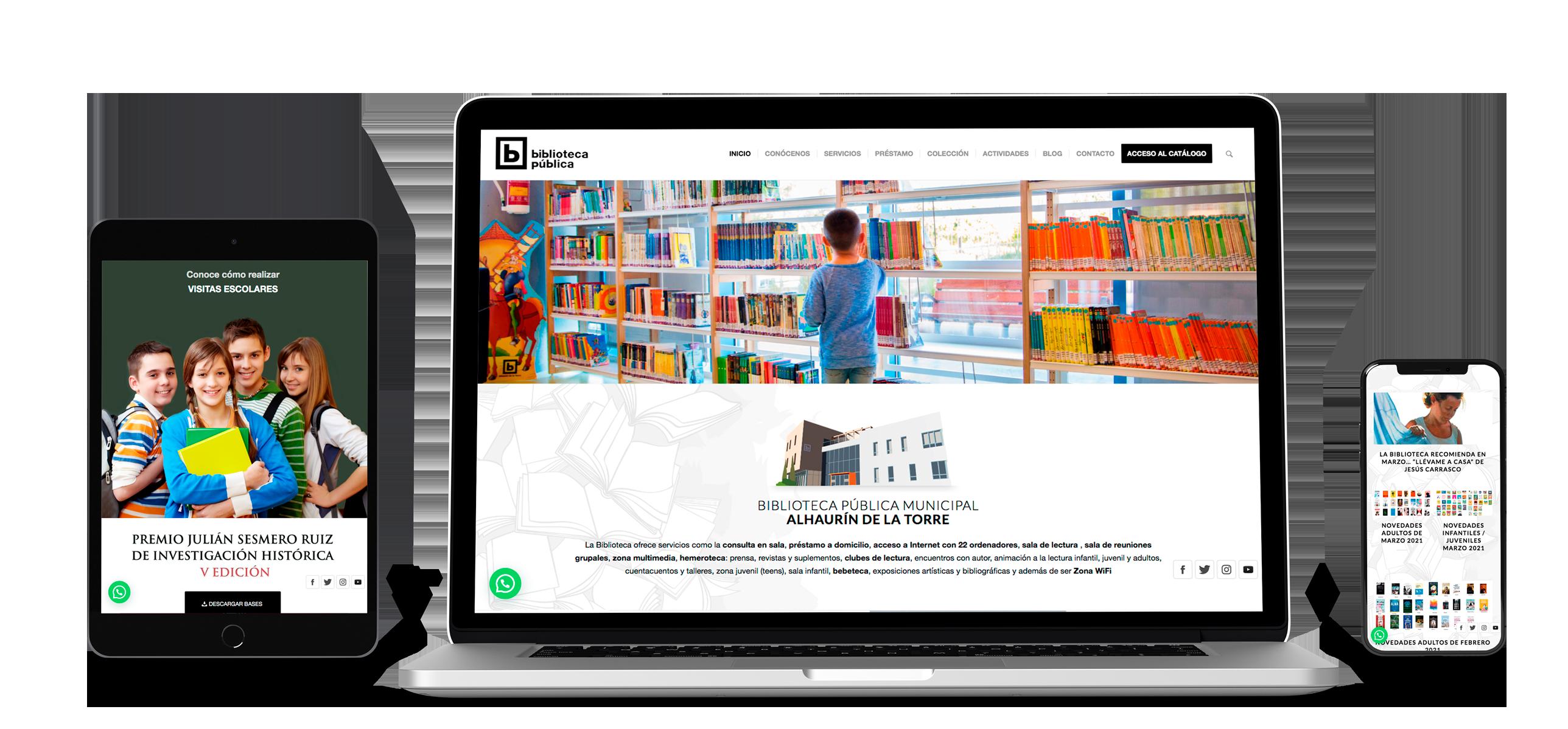 Web Biblioteca Pública Alhaurín de la Torre Fans Marketing Málaga